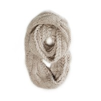 AEO Chunky Cable Knit Loop Scarf | American Eagle Outfitters