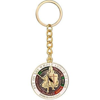 Put On The Whole Armor of God Knights Templar Keychain