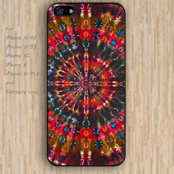 iPhone 5s 6 case stone mandala red colorful phone case iphone case,ipod case,samsung galaxy case available plastic rubber case waterproof B340