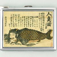 Vintage Japanese Mermaid Art Cigarette Case Lighter Wallet (cgc-1347)