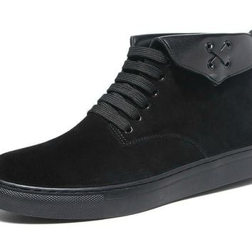 Black Suede Men's Boots
