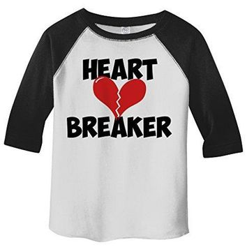 Shirts By Sarah Toddler Heart Breaker Kids Funny Valentines Day 3/4 T-Shirt