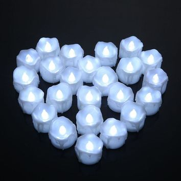 Romantic Led Candle White Flameless Bougies Flickering Long Bright Candle