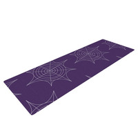 "KESS Original ""Spiderwebs - Purple"" Yoga Mat"