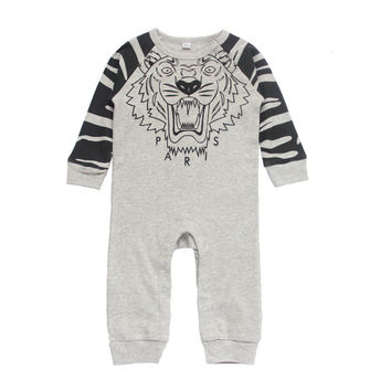 Baby Clothing Rompers 2017 New Baby Boys Clothes Leisure Infant Jumpsuit Cotton Tigger Baby Cartoon Rompers Toddler Clothing