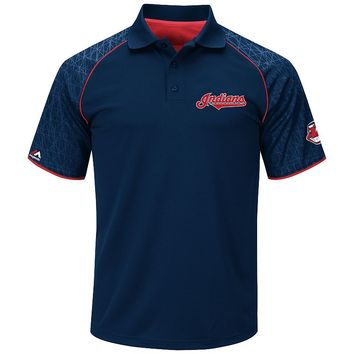 Majestic Cleveland Indians Great Spectacle Synthetic Polo