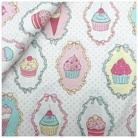 Cute Ice Cream Cotton Fabric Home Textile Decor Bedding Clothing Quilting Patchwork Scrapbooking Doll Sewing Cloth Tissue Fabric