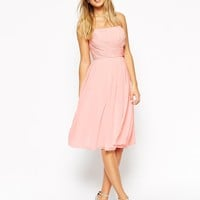 ASOS | ASOS WEDDING Midi Dress With Ruched Wrap Front at ASOS