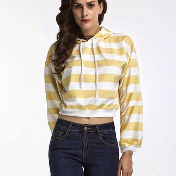 Hoodies Tops Pullover Stripes Long Sleeve Hats [11335937351]