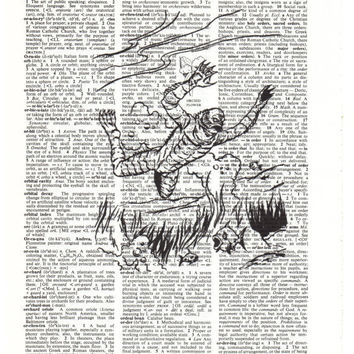Creature From The Black Lagoon Dictionary Art Print