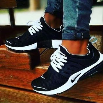Nike Air Presto Popular Unisex Casual Running Sport Shoes Sneakers Black White I