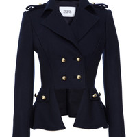 Double Breasted Wool-Blend Jacket by Prabal Gurung - Moda Operandi