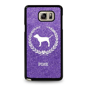 PINK DOG VICTORIA'S SECRET Samsung Galaxy Note 5 Case Cover