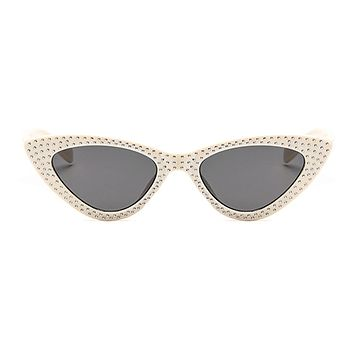 The Vintage Bling Sunglasses Ivory