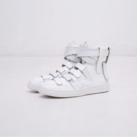 D. Patent Leather Lumiere Du Nord Multi Velcro Hightop Sneakers