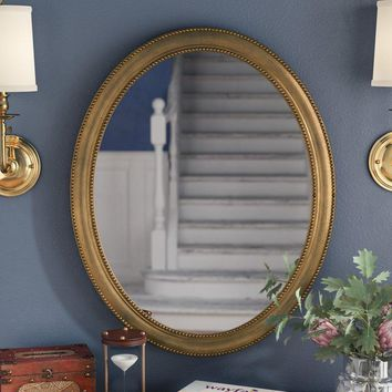 "30"" Oval Accent Antique Gold Mirror"