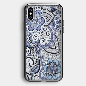 Zentangle Art Flowers iPhone XS Max Case | Casefruits