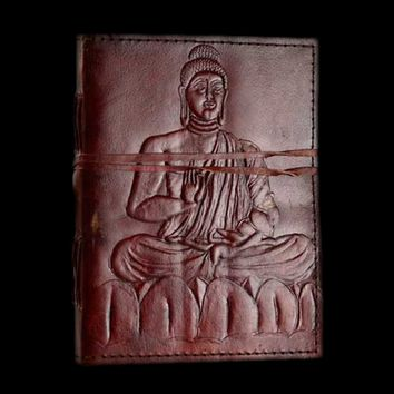 Buddha Genuine Leather Blank Journal with cord