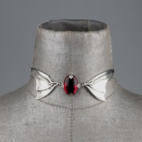 THIRST. Bat Wing Ruby Glass Choker – REGALROSE