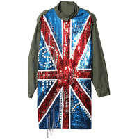 UK flag sequins trench