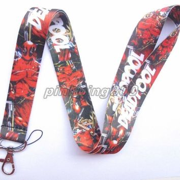Deadpool Dead pool Taco Lot 10Pcs Cartoon  Mobile Cell Phone Lanyard Neck Straps Party Gifts A06 AT_70_6