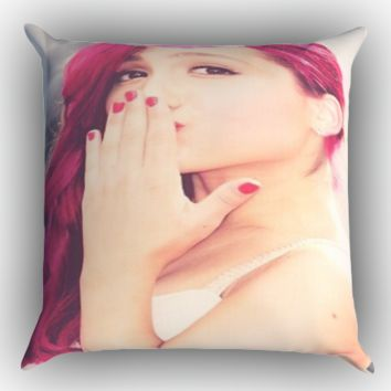 Beautiful Ariana Grande Zippered Pillows  Covers 16x16, 18x18, 20x20 Inches