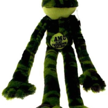Peace and Love Frog Camo Is My Favorite Color Hanging Plush Embroidered Green