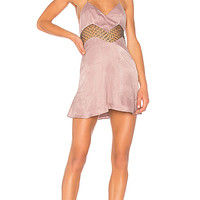 h:ours Marion Dress in Dusky Mauve