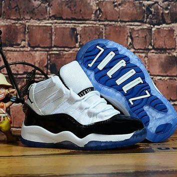 DCCK Kids Air Jordan 11 Concord Sneaker Shoes