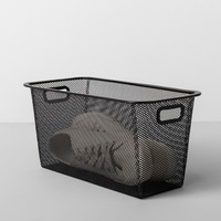 "Slim Metal Shoe Bin 6.25""W X 13""D X 6.25""H - Made By Design™"