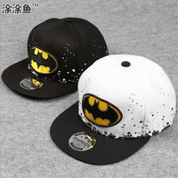 New Product Fashion Kids Case Tops Cover Cartoon Snapback Caps, Flat Brim Child Baseball Cap, Embroidery Childrens Spiderman Hats, Cute Batman Hat Beg1 [9302672906]
