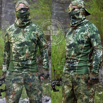 Hunting Tactical Military T Shirt Camping Hiking Wild Survival Clothing Airsoft Outdoor Sports Gear
