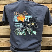 Backwoods Born & Raised Shine On Harvest Moon Fall Camp Comfort Colors Bright Unisex T Shirt
