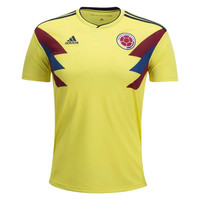 KUYOU Colombia 2018 World Cup Home Men Soccer Jersey Personalized Name and Number