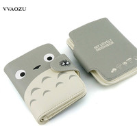 My Neighbor Totoro Wallet Lovely Cat Japanese Anime Short Purse Hasp Ladies Wallet Card Holder for Students