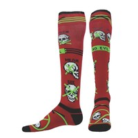 Skully LIGHT-WEIGHT COMPRESSION OVER-THE-CALF SOCKS CrossFit Socks - Running Socks - Skull Socks