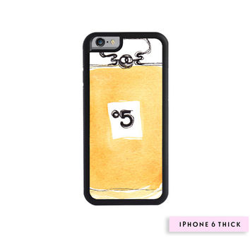 No 5 - Fashion Phone Case, Watercolor Chanel iPhone Case, iPhone 5/5S Case, iPhone 6 Case, iPhone 6 Plus Case, Chanel No 5 Illustration