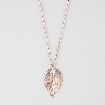 Full Tilt Leaf Necklace Antique Gold One Size For Women 25910462301