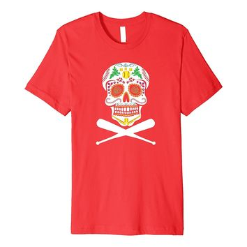Funny Softball Sugar Skull Cool Fastpitch T Shirt