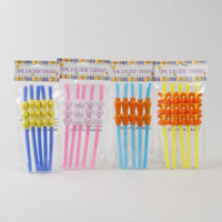 easter party straws Case of 48