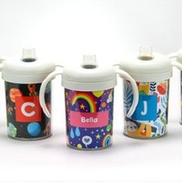 Personalized 10 oz Sippy Cups and Toddler Cups - Monogram Sippy Cup | Custom Toddler Cup | Sippy Cup with Handles | Spill Proof Lid