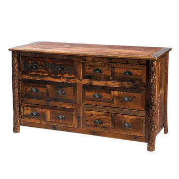 Barnwood Six Drawer Dresser