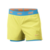 Nike Icon Woven Two-in-One Girls' Training Shorts: Size Large (Yellow)