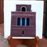 Photo Coaster and Photo Plaque International Harvester Tower