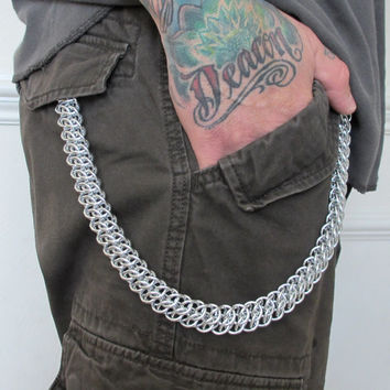 Chainmail wallet chain, 20 inch wallet chain, GSG weave
