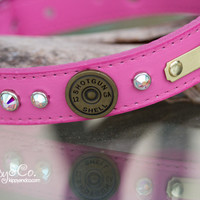 Pink 12 guage Dog Collar