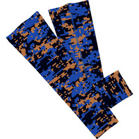 Royal Blue and Gold Digi Camo Arm Sleeves