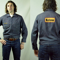 Vintage 1950s Nutrena Feeds Unitog Work Buckle Back Gabardine Jacket