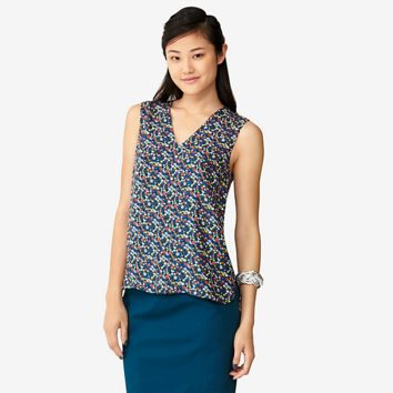 Kate Spade Saturday V-neck Sleeveless Top In Wild Floral
