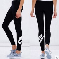 NIKE Print Sport Stretch Pants Fitness yoga Trousers Sweatpants